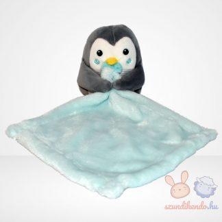 Nicotoy kék szundikendő csíkos hasú plüss pingvinnel