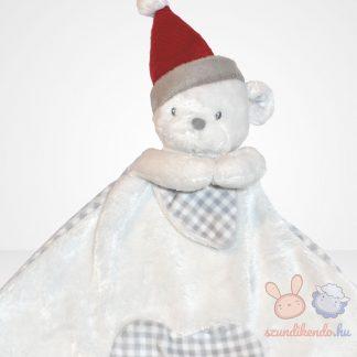 My first Christmas (Első karácsonyom) ünnepi macis szundikendő (Mothercare), közelről