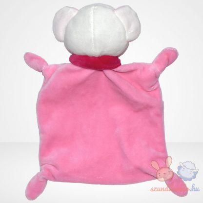 Nicotoy kislány maci rózsaszín szundikendő sállal, felhő mintával, hátulról