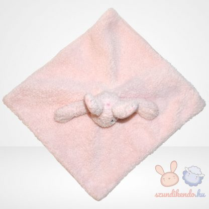 Jelly Kitten rózsaszín nyuszi szundikendő - bolyhos (Jellycat), felülről