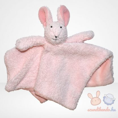 Jelly Kitten rózsaszín nyuszi szundikendő - bolyhos (Jellycat), elölről