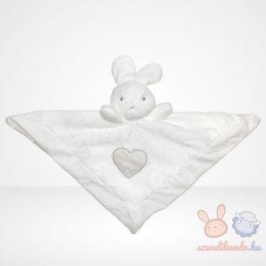 Bonnie the bunny - hófehér nyuszi szundikendő szív mintával