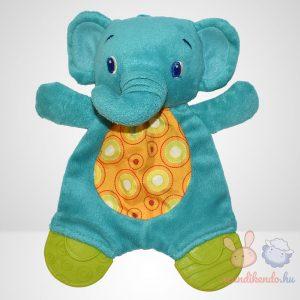 Bright Starts zöld színű elefánt szundikendő rágókával