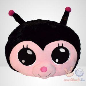 Lullabrites zenélő plüss párna - fekete katica