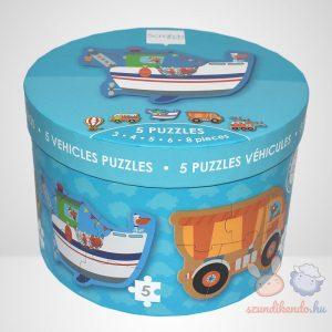 Közlekedés - 5 az 1-ben 26 darabos Scratch Europe forma puzzle