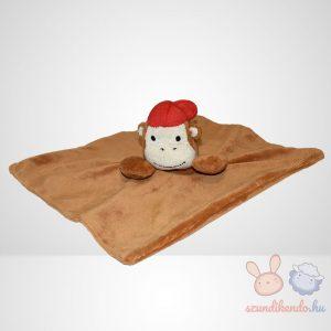 Wilko barna majom szundikendő piros sapkában