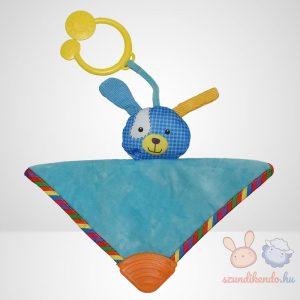 Cukikölyök kék kutyus plüss bébi szundikendő rágókával - 20 cm (Biba Toys)