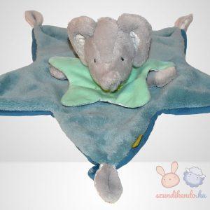Beauty Baby zöld ruhás elefánt szundikendő - Deluxe, szemből